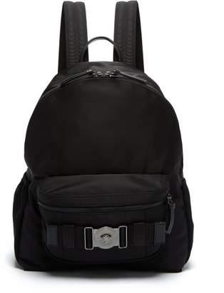 Versace Medusa Plaque Backpack - Mens - Black