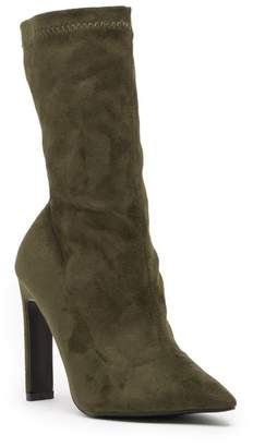 Lost Ink Jacki Stretch Stiletto Mid Bootie