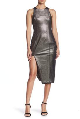 Do & Be Do + Be Metallic Asymmetrical Hem Midi Dress