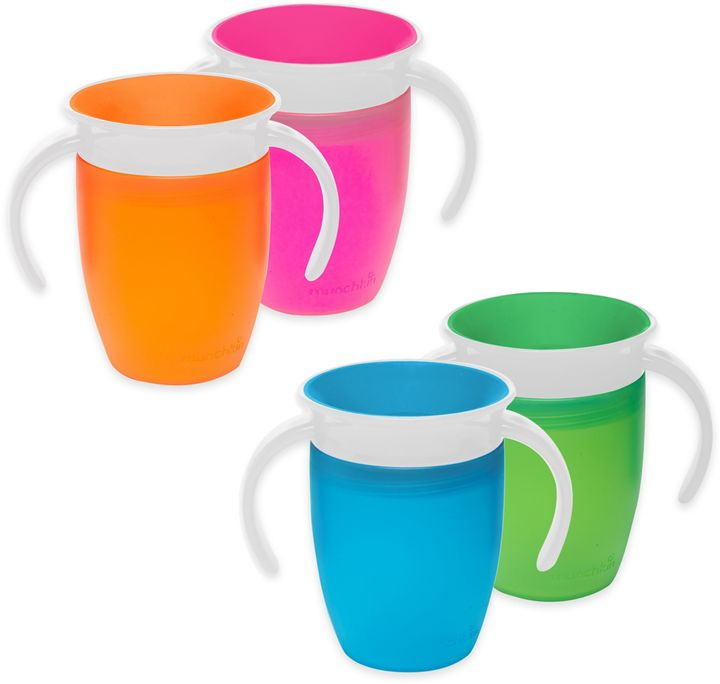 Munchkin® Miracle® 360o 2-Pack 7 oz. Trainer Cups in Green/Blue