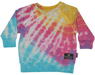 Munster New Kids Baby Boys Hippy French Terry Crew Multi Col