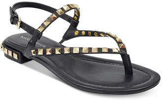 Marc Fisher Pamali Studded Flat Sandals Women's Shoes