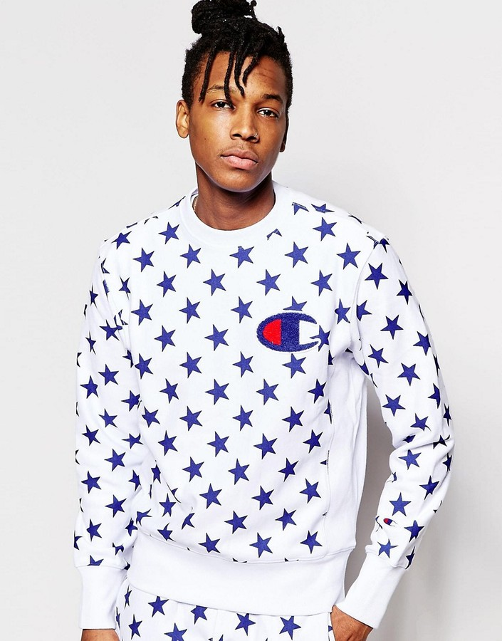 Champion Sweatshirt With All Over Star Print
