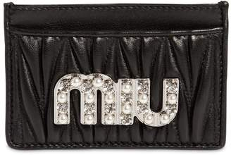 Miu Miu Quilted Leather Card Holder
