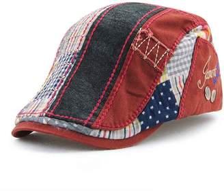 King Star Men s Cotton Flat Cap Newsboy Duckbill Ivy Cabbie Driving Hats dee47687c518