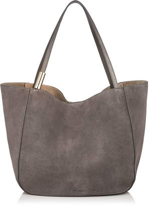 Jimmy Choo STEVIE TOTE Dark Grey Suede and Elaphe Tote Bag