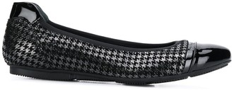 Hogan houndstooth ballerina shoes