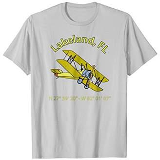 Lakeland Flight Coordinates Vintage Biplane Aviators T-Shirt