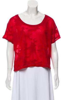 60e86516503 Red Knit Crop Top - ShopStyle