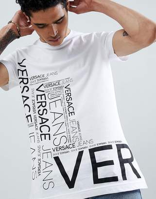 Versace t-shirt in white with repeat logo
