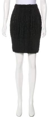 Pleats Please Issey Miyake Textured Knee-Length Skirt