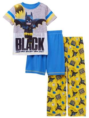 Lego SGI Apparel Batman 3-Piece Pajama Set (Little Boys & Big Boys)