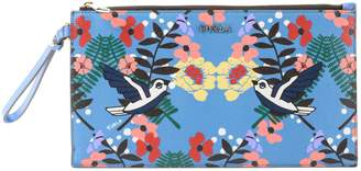 Furla Birds And Floral Print Clutch