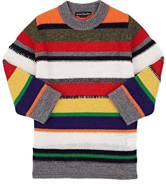 Kids' Mini Niham Striped Wool-Cotton Sweater