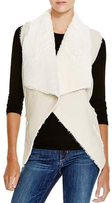 BLANKNYC Faux Shearling Drape Front Vest $78 thestylecure.com
