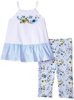 Mud Pie Floral Tunic and Capris Two-Piece Set Girl's Suits Sets