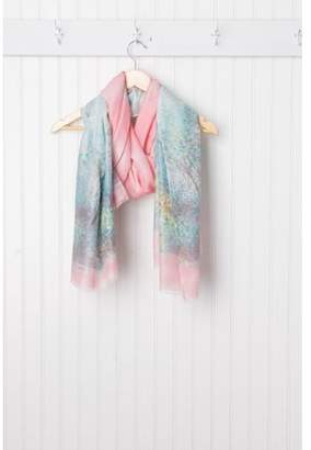 "Tickled Pink Monet Impressionistic Scarf, 40"" x 70"", 50% Poly Viscose; 10% Cotton, Multiple Colors"