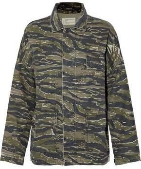 Current/Elliott Printed Cotton And Linen-Blend Jacket