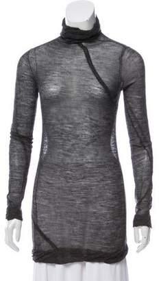 Zero Maria Cornejo Alpaca Semi-Sheer Turtleneck Sweater