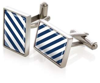 M-Clip Striped Inlay Cufflinks