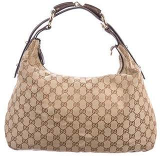 Gucci GG Canvas Medium Horsebit Hobo