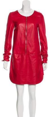 Hotel Particulier Leather Zip-Up Dress