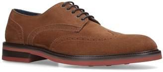 Salvatore Ferragamo Suede Brewood Derby Shoes