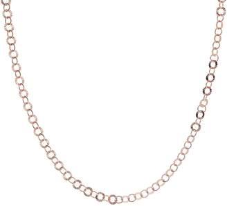 "Bronzo Italia 18"" Starburst Diamond Cut Round Link Necklace"