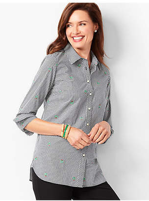 Talbots Classic Cotton Shirt - Holiday Gingham