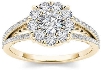 MODERN BRIDE 1 CT. T.W. Diamond 10K Yellow Gold Engagement Ring