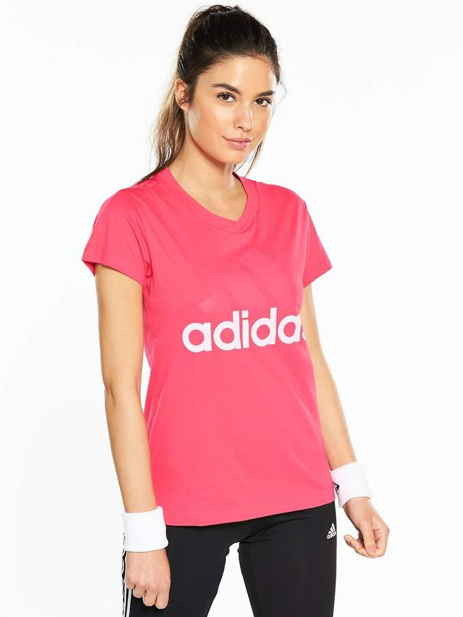 Essentials Linear Tee - Pink