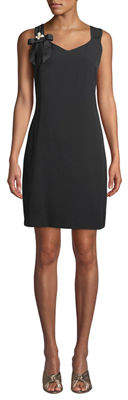 Karl Lagerfeld Paris Sleeveless Bow-Shoulder Shift Dress