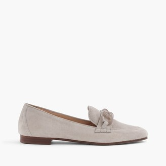 Suede Charlie loafers with Lucite links $188 thestylecure.com