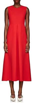 Lisa Perry Women's Wool Crepe Sheath Midi-Dress - Red