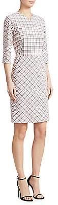 Piazza Sempione Women's Check-Print Sheath Dress