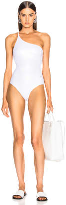 Alix Nyc ALIX NYC Bonita Metallic Swimsuit in Oyster & Ivory | FWRD