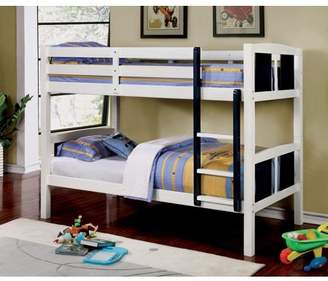 Furniture of America Claborn Twin Over Twin Bunk Bed, Multiple Colors