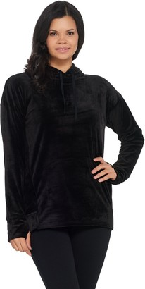 Cuddl Duds Double Plush Velour Hoodie