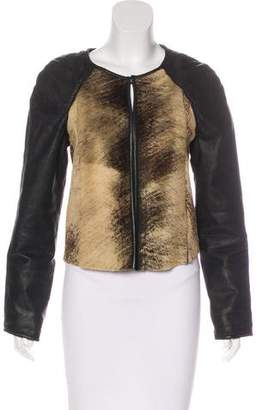 Closed Leather & Shearling Jacket