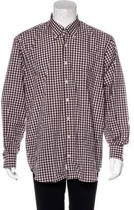 Peter Millar Gingham Woven Shirt w/ Tags