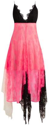 Christopher Kane Colour Block Lace Cami Dress - Womens - Pink