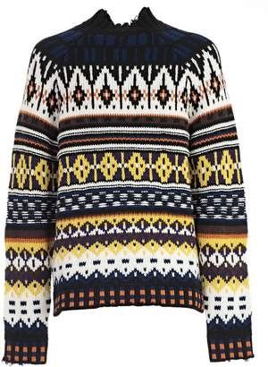 MSGM Intarsia Knit Sweater