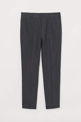 H&M Slim Fit Linen Suit Pants - Gray