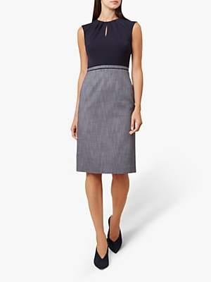 Hobbs Brooke Dress, Navy/Ivory