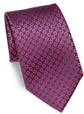CharvetCharvet Star Print Silk Tie