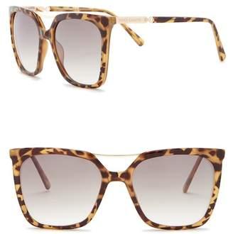 Vince Camuto Rectangular Brow Bar Sunglasses
