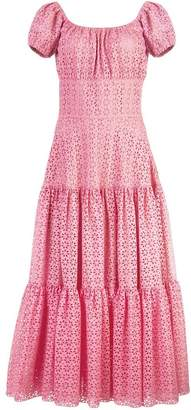 Michael Kors long embroidered cut-out dress