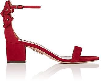 Aquazzura Women's Siena Suede Ankle-Strap Sandals