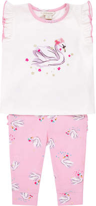 Monsoon Newborn Baby Shiloh Swan Set