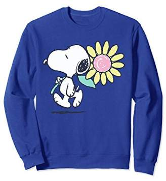 Peanuts Snoopy pink daisy flower Sweatshirt